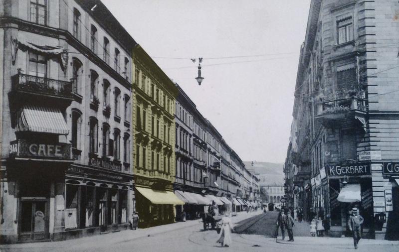 Kaiserstraße, vor 1916 © Stadtarchiv Würzburg