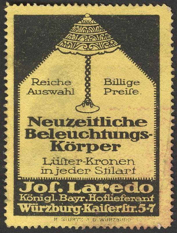Reklamemarke, H. Stürtz © Sammlung Dürrnagel