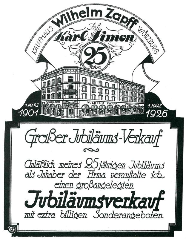 Werbeanzeige im Generalanzeiger, 1926 © Roland Flade